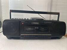 Crown CD-560 Stereo Radio Double Cassette Recorder -Bitte Lesen !