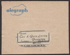 Sudan 1944 Unstamped Airgraph Used Khartoum Stores to UK with Contents + Cover