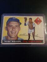 "1955 Topps Albert ""Rube"" Walker BROOKLYN DODGERS  Card #108 Original Card"