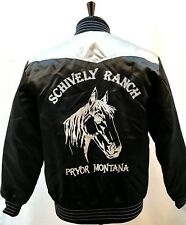 Vintage Montana Ranch Jacket Schively Men's Medium Rockabilly Western Cowboy US
