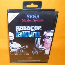 VINTAGE 1993 SEGA MASTER SYSTEM ROBOCOP VERSUS VS. THE TERMINATOR VIDEO GAME PAL