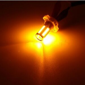 4 x 33SMD Yellow Amber 3157 5730 Chip Daytime Running Lights LED Bulbs DRL