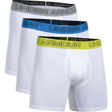 "UNDER ARMOUR Charged Cotton Boxerjock 6"" 3-Pack Underwear XX-Large White Boxer"