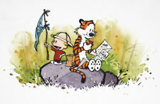 Calvin and Hobbes Iron On Transfer Light  Fabrics 5 x 7 Size