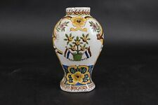 Old Dutch Delft Polychrome 'Prince of Orange' Vase, Very Nice.