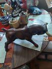 Vintage+Brown+Ceramic+Raging%2C+Spanish+Fighting+Bull+Figurine.+