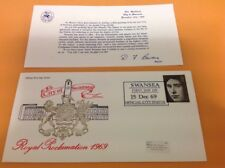 1969 SWANSEA / FIRST DAY OF OFFICIAL CITY STATUS Event cover ROYAL PROCLAMATION