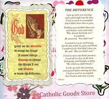 The Difference - Scalloped trim - Paperstock Holy Card