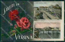 Verona Città Saluti da Foto cartolina QK7395
