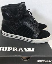 Supra Skytop Musks 001 Black Croc Suede Skate Shoes Men's Size 7.5