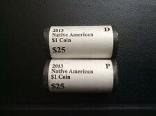2013 P D Sacagawea Native American Dollar BU Mint 2 Rolls of 25 Coin Each