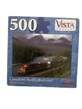 Vista 500 PC JIGSAW PUZZLE Canadian Pacific Rairlroad  No 65002 New Sealed