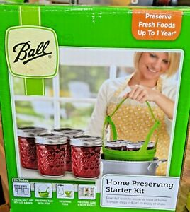 Ball 9 Piece Fresh Preserving Canning Home Starter Kit  (loc-15)