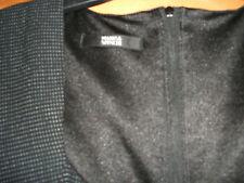 M & S AUTOGRAPH SMART DRESS 12 BLACK NO BELT FIGURE HUGGIN