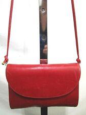 Vintage Koret Small Red Leather Crossbody Shoulder Handbag