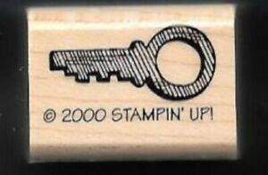 KEY JEWELRY SECURITY BOX Style Design STAMPIN' UP! 2000 wood mount RUBBER STAMP