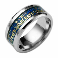 Stainless Steel Titanium World Of Warcraft Women Man Band Ring Horde Size 6-12