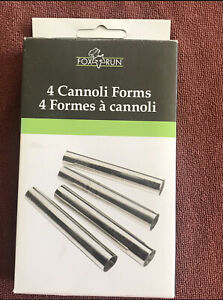 Fox Run Cannoli Forms Set of 4 NIB Tin Plated Steel Mold