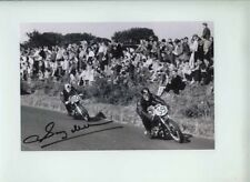 SAMMY MILLER NORTON 350 cc Ulster Grand Prix Réunion 1955 signé photographie