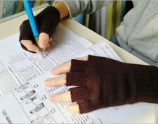 Pure Wool Half Fingers Gloves Mittens Children Pupils Students Typing 7-11age