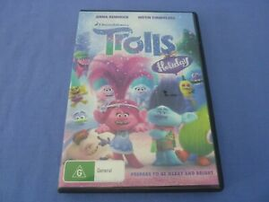 Trolls Holiday DVD Anna Kendrick Justin Timberlake R2,4 Free Postage