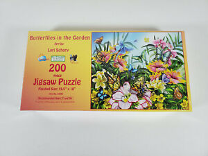 Butterflies in the Garden 200 Piece Jigsaw Puzzle Lori Schory 18 by 15.5 Inches