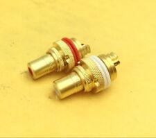 2pcs RCA socket Jack Audio Female Gold Plated Connector CMC805FG Cu RCA socket