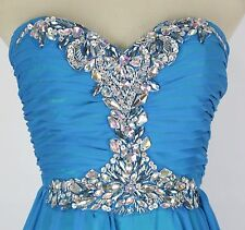 Masquerade Blue Evening Prom Formal Strapless Dress size 3 Long $200 Long Gown