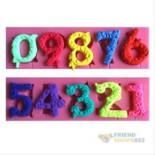 Numbers Silicone Mold Fondant Cookware Trays Cake Cookies Lollipop Baking Mould