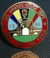 Vintage Enameled Pin 1984 84 LA Los Angeles Olympics Police Expo Park Task Force