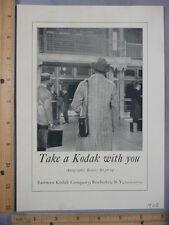 Rare Original VTG 1925 Kodak Camera Cashmere Bouquet Soap Advertising Art Print