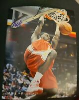 TYREKE EVANS SIGNED 8X10 PHOTO NBA PACERS KINGS HS DUNK W/COA+PROOF RARE WOW