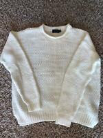 Polo Ralph Lauren Women's White Cotton/Linen Sweater, Size M