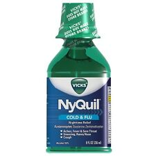 Vicks Nyquil Cold - Flu Nighttime Relief Liquid, Original Flavor 8 oz