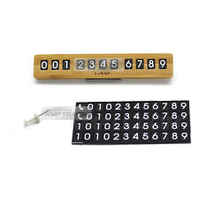 Universal Slim Wood Parking Notification Telephone Number Plate for All Vehicle