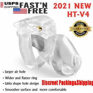 New Male HT V4 Resin Ring Male Chastity Device Belt Lock Cage Holy Trainer -USA