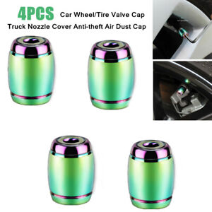 4X Vehicles Wheel/Tire Valve Cap Nozzle Decorative Cover Anti-theft Air Dust Cap