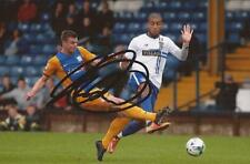 BURY: LEON CLARKE SIGNED 6x4 ACTION PHOTO+COA