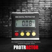 Mini Digital Protractor inclinometer Magnetic Level Box Measuring