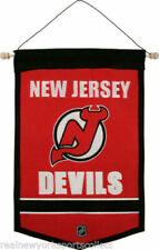 """NHL NEW JERSEY DEVILS GENUINE WOOL TRADITIONS BANNER 12"""" x 18"""""""