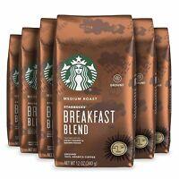 Starbucks Medium Roast Ground Coffee Breakfast Blend 6 Bags (12oz each) BBD 2020
