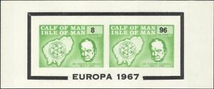 Calf of Man 1967 Europa/Winston Churchill/Map/Coat-of-Arms IMPERFORATE m/s s5125