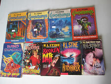 R.L. STINE LOT OF 9 PAPERBACKS GOOSEBUMPS, FEAR STREET Ghosts Hitchhiker RL PB