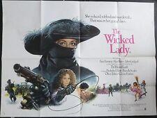 THE WICKED LADY ORIG 1983 CINEMA QUAD FAYE DUNAWAY RALPH BATES MICHAEL WINNER