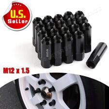 20pcs Black M12x1.5 Tuner Racing Lug Nuts Extended 60MM fits Toyota Honda Acura