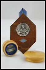 † VHM ORDER SAINT MARGARET MARY ALACOQUE RELIQUARY 2 RELICS SACRED HEART FRANCE†