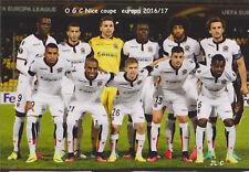 FOOTBALL CP  EQUIPE DE OGC  NICE DU 30/09/2016