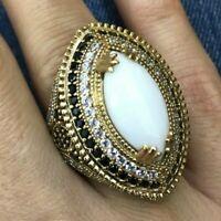 925 Sterling Silver Handmade Gemstone Turkish Quartz Ladies Ring Size 6-12