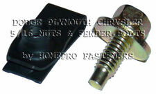 5/16 YELLOW FENDER BOLTS LONG FOLDOVER NUTS 24p CHRYS DODGE PLYMOUTH (9518CDP)