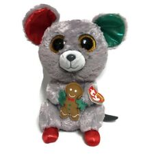 """New listing Ty Beanie Boos Mac Mouse Christmas Holiday Gingerbread Plush 6"""" New With Tags"""
